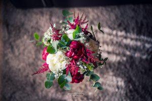 Ramo de novia asimétrico