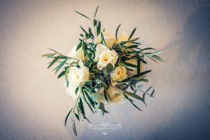 Ramos de novia con ramas de olivo