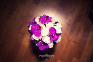 Ramo de novia de rosas blancas