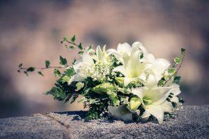 Ramo de novia en cascada