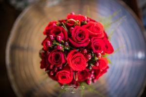 Ramo de novia de rosas rojas