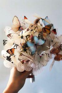 Ramo de novia con mariposas
